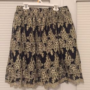 Gold embroidered skirt